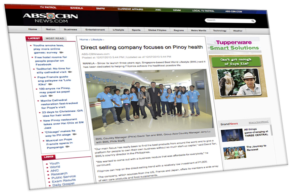 Direct selling company focuses on Pinoy health